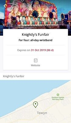 4 All Day Wristbands Knightlys Fun Fair Instant Delivery Valid Till 31/10/19