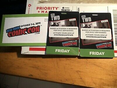 2019 New York Comic Con FRIDAY Day ADULT BADGE TICKET SOLD OUT IN HAND Fan Verif