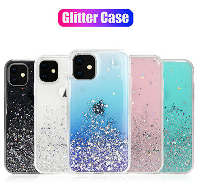 For iPhone 11 Pro Max X XR XS Liquid Glitter Case Slim Silicone Quicksand Cover