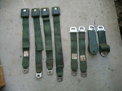 1970 Camero RS SS  Firebird Trans Am OEM Dated Irvin Seat Belts And Retractors.