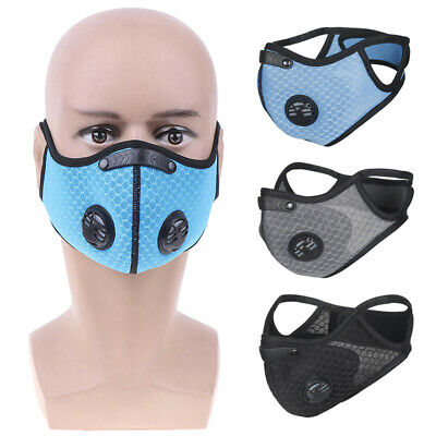 Activated Carbon Dust-proof Cycling Face Mask Anti-Pollution Bicycle Bike M FO