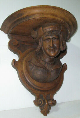 black forest Swiss wall shelf ....wood carving