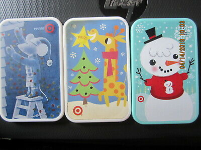 3pc CHRISTMAS press button not work TARGET swap trade collect NO VALUE GIFT CARD