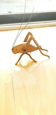 Vintage Solid Brass cricket Insect Paper Weight Figurine