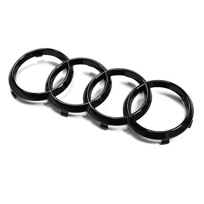 Genuine Audi Glossy Black Front Grille Badge Rings A1 A3 A4 A5 A6 A7 RS3 RS4 RS5