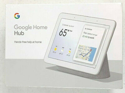 Google Nest Hub with Built-In Google Assistant, Chalk (GA00516-US) New Sealed