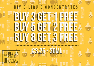 30 Mil Diy E Liquids Vape Concentrated Flavouring Over 100+ Flavours Pg Based