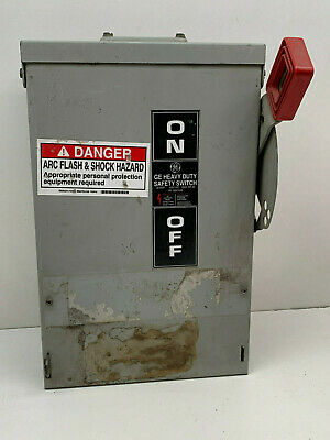 GE THN3361R 30-Amp 600VAC 30HP Heavy Duty Safety Switch Type 3R Outdoor 30A