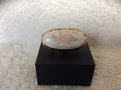 Lipstick Holder with Mirror in Enamel Painted Case stamped Japan.