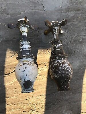 Vintage Antique Reclaim Original Globe Roll Top Bath Taps Unrestored