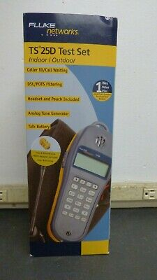 Fluke Networks TS 25D Test Set Indoor/Outdoor *BRAND NEW* FREE SHIPPING!!