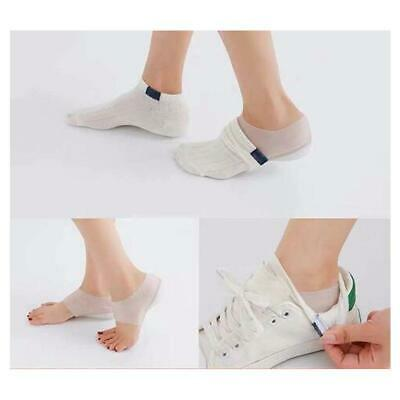 2-4cm Gel Shoes Insoles Invisible Heel Lifts Height Increase Pad Sock Liners AU.