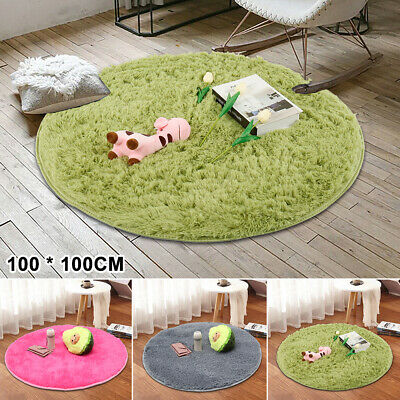 100CM Circle Round Soft Shaggy Rug Living room Bedroom Carpet Floor Fluffy Mat
