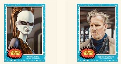 Topps Star Wars Living Set Cards #31-32 Tobias Becket & Aurra Sing 2 Card Bundle
