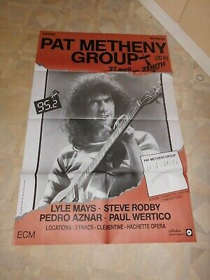 Pat Metheny  France 1980'S  Large Concert Poster