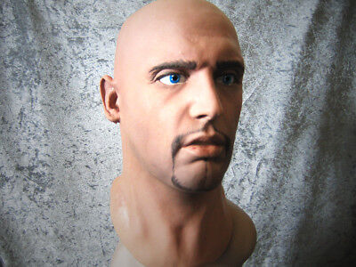 Latex Mask MORGAN B +EYES - Real. Male Effect Rubber Gum Man Face Disguise Guy