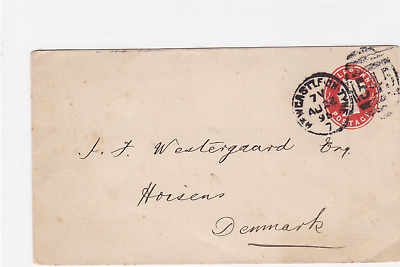 Great Britain 1895 Newcastle on Tyne Horsens  stamps cover  ref R20037