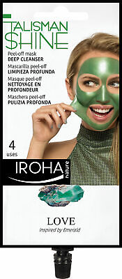 Cosmética Iroha mujer PEEL OFF MASK green emerald deep cleanser