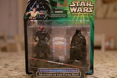 Star Wars Power of the Jedi Darth Maul & Darth Vader action figure set MOC