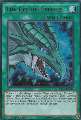 Yugioh The Eye of Timaeus - DRL3-EN045 - Ultra Rare 1st Edition