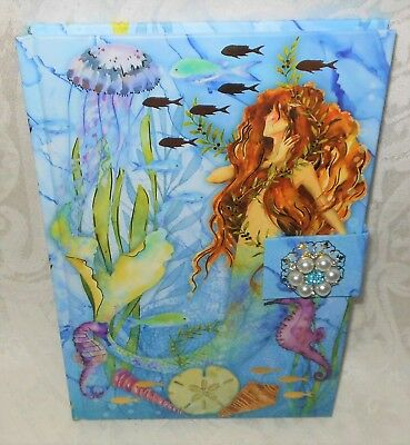Punch Studio Hard Cover Jeweled Mermaid Journal Notebook Diary NEW FREE SHIPPING