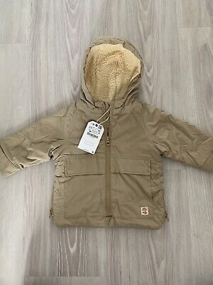 Zara Baby Boys Beige Coat 9-12 Months, Brand New With Tags