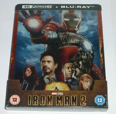 IRON MAN 2 - 4K UHD + 2D BLU RAY ( STEELBOOK - UK EXCLUSIVE ), MARVEL, In Stock
