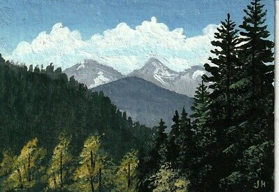 "aceo original acrylic painting ""Deep in the Wilderness"" by J. Hutson"