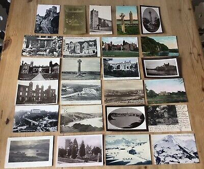 25 OLD POSTCARDS ANTIQUE VINTAGE COLLECTION JOB LOT Long Medford Scarborough Etc