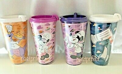 Disney 4 Cups Epcot Food Wine Festival 2019 Figment Mickey Minnie Remy Tumblers