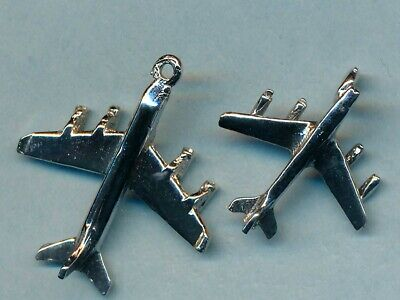 Vintage LOT of TWO sterling silver AIRPLANE charms