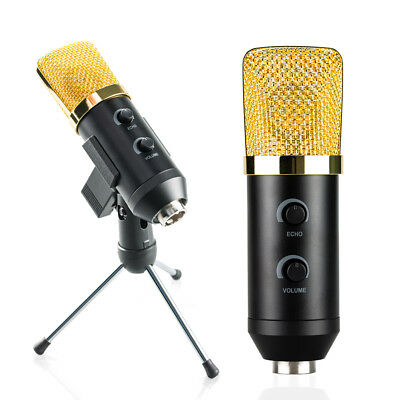 MK-F100TL Wired Microphone USB Condenser Sound Recording Mic for Chatting Sin gl