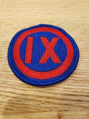Wwii Ww2 Us Army 9Th Army Corp Patch (Reproduction)