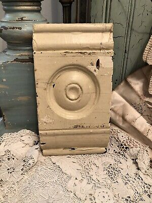 Antique Chippy Off-White Architectural Salvage Bull's-Eye Molding Trim
