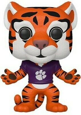 Clemson - The Tiger (Home Orange Paw Jersey) - Funko Pop! Coll (2019, Toy NUEVO)