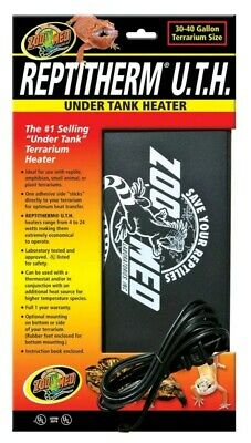 Zoo Med ReptiTherm UTH Under Tank Heater for Reptiles 30-40 gallon 8x12 inches