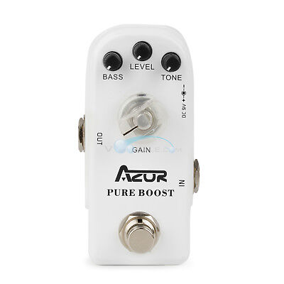 AZOR Pure Boost Mini Guitar Effect Pedal with True Bypass Noise Filter AP-304