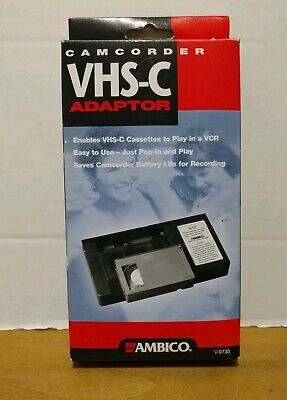 Ambico VHS-C Video Cassette Adapter for VCR V-0730 Play Cassette in VCR