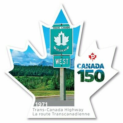 TRANS-CANADA HIGHWAY = CANADA 150 Celebration = booklet DIE CUT stamp,MNH 2017