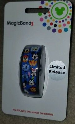 NEW Disney Parks Emoji Mickey Minnie Donald Goofy Stitch Magic Band 2 LINKABLE