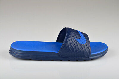 Nike Benassi Solarsoft Slides Sandals  705474-440 Mens Size 12 Blue