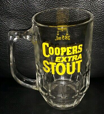 Rare Collectable Vintage Coopers Extra Stout 285Ml Glass Beer Mug Good Condition