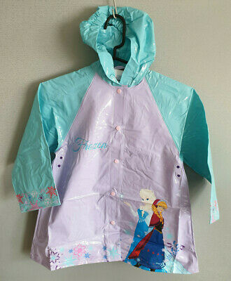 BNWT Girls Size 7 Frozen  Lilac Blue PVC Plastic Waterproof Raincoat Rain Coat