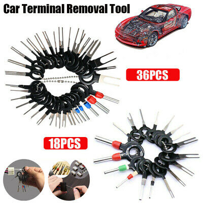 18/36Pc Wire Terminal Removal Tool Car Electrical Wiring Crimp Connector Pin Kit