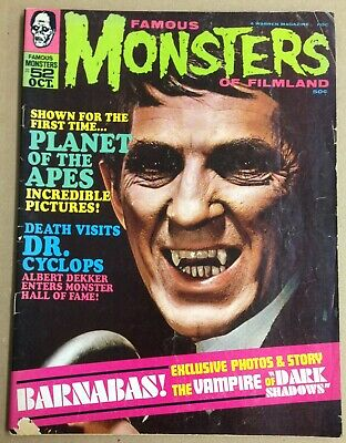 Famous Monsters of Filmland 52 Dark Shadows Barnabas decent VG- copy Oct 1968