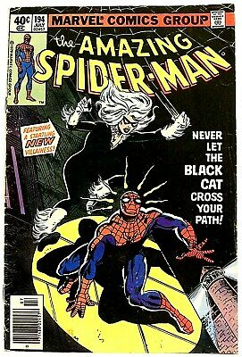 """""""THE AMAZING SPIDER-MAN"""" Issue # 194 (July, 1979, Marvel Comic) f. THE BLACK CAT"""