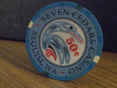 SEVEN CEDARS CASINO $0.50 (50¢) casino gaming chip ~ Sequim, WA