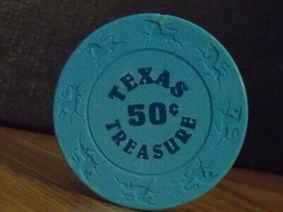 TEXAS TREASURES CASINO $0.50 (50¢) casino gaming chip