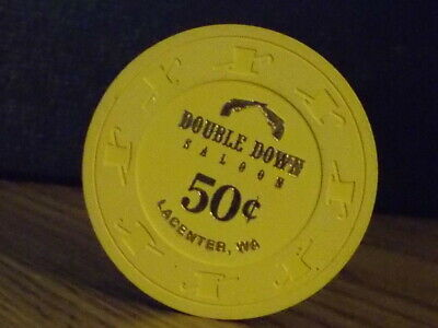 DOUBLE DOWN SALOON CASINO $0.50 (50¢) casino gaming chip ~ Lacenter, WA