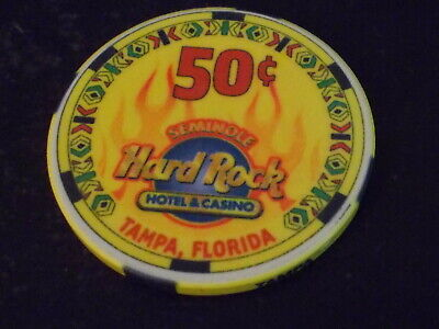 SEMINOLE HARD ROCK HOTEL & CASINO $0.50 (50¢) casino gaming chip ~ Tampa, FL